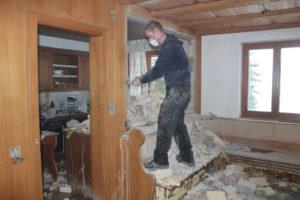 Küche Durchbruch Baustelle