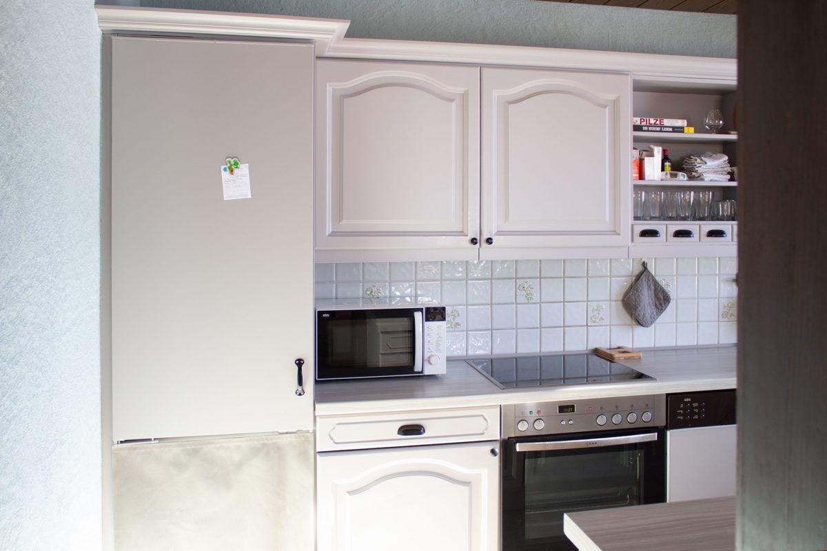 Küche makeover Kühlschrank nachher