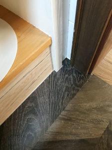 Vinylboden Badezimmer Ecke